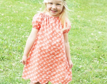 """Peasant Dress and Blouse PDF Pattern - """"Polly Peasant Dress & Blouse"""""""