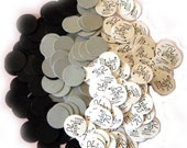 70th Birthday Party Confetti 3/4 Inch Circles - Still Fabulous at 70, Black, Silver and White or Your Colors