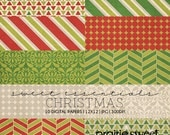 Sweet Essential Christmas Digital Paper Collection | 10 JPG Designs Great For Scrapbookers & Photographers | Instant Download | PE8008