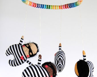 Love Bandit Baby Mobile ---  Made to Order -- Customize colors