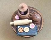 Dollhouse Miniature - Wooden Toy, Fairy Baking Playset (Set 1) / Waldorf Toy