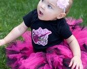 ON SALE Ready To Ship -  Baby Punk - Star Shirt - Girl Punk - Rock N Roll - Pink Shirt - Baby Shirt - Girls Shirts - nb - 6m -12m - 18m