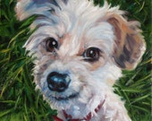 Unique Gifts, CUSTOM Pet Portrait Oil Paintings by puci, 8x8 inches