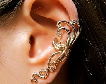 Ear Cuff Swirl Earring Spiral Earring Ear Wrap Bronze Siren's Song Ear Cuff Non Pierced Earring Non Pierced Ear Cuff Minimalist Ear Cuff