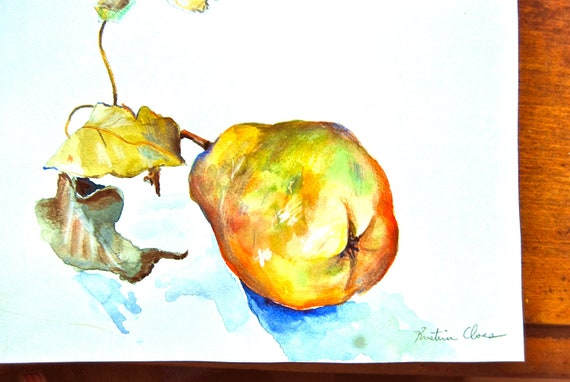 Watercolor Painting- A Pear