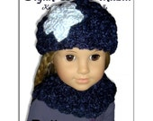 PDF Knitting Pattern. Fits 18 inch, American Girl, Our Generation, Hat and Neck Warmer 102