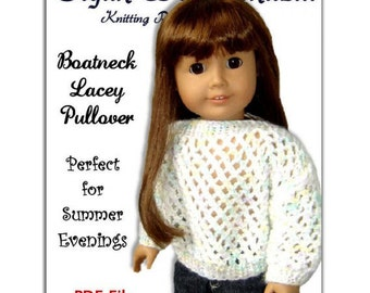 PDF 18 inch doll knitting pattern. Fits American Girl Doll. AG Instant Download 002