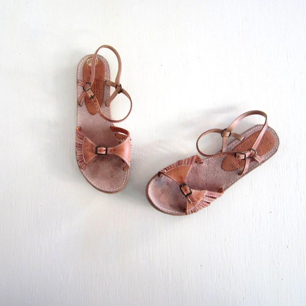 Vintage Leather Sandals 11