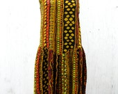 Rayon Sundress in Neon African Print // Early 90s // Late 80s