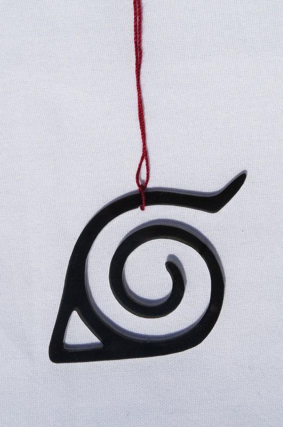 Acrylic Ornament Naruto Leaf Village Symbol by akicafe on Etsy
