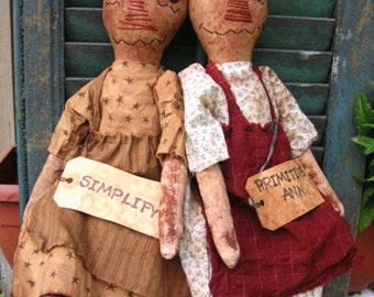 Primitive Doll Pattern Folk Art  Plain and Simple Annies
