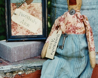 Primitive Doll Pattern Raggedy Ann Folk Art