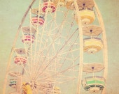 Carnival Photography, Pastels, Cotton Candy, Ferris Wheel, fpoe, Rainbow Colors, Babys Room, Nursery - Rainbow Ferris Wheel