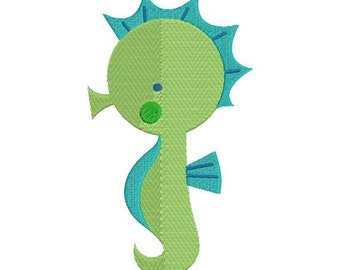 Seahorse Sea Horse Machine Embroidery Designs 4x4 & 5x7 Instant Download Sale