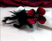 Gothic Victorian Valentine Feather Napkin Rings - Set of 4