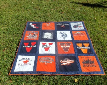 Memory Quilt out of 16 of Your Old Tshirts  Recycle and Go Green