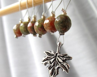 Autumn Is A Second Spring - Six Snag Free Stitch Markers - Fits Up To 5.5 mm (9 US) - Limited Edition