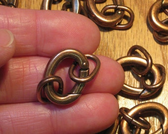 Carabiner Clasp With Jump Rings Antiqued Copper Plated Over Brass 1 Or More Antiqued Copper Jump Hinged Clasp Aged Copper Large Oval Clasp