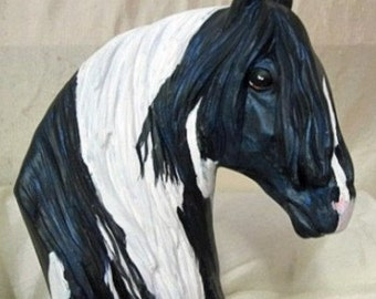 Horse Art Gypsy Vanner hand painted can be custom by Nancy