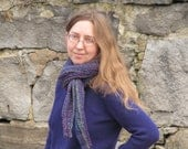 crochet slip stitch short row scarf - pattern only