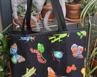 Insects Shopping or Record Bag