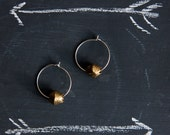 Elliot Brass and Silver hoop earrings