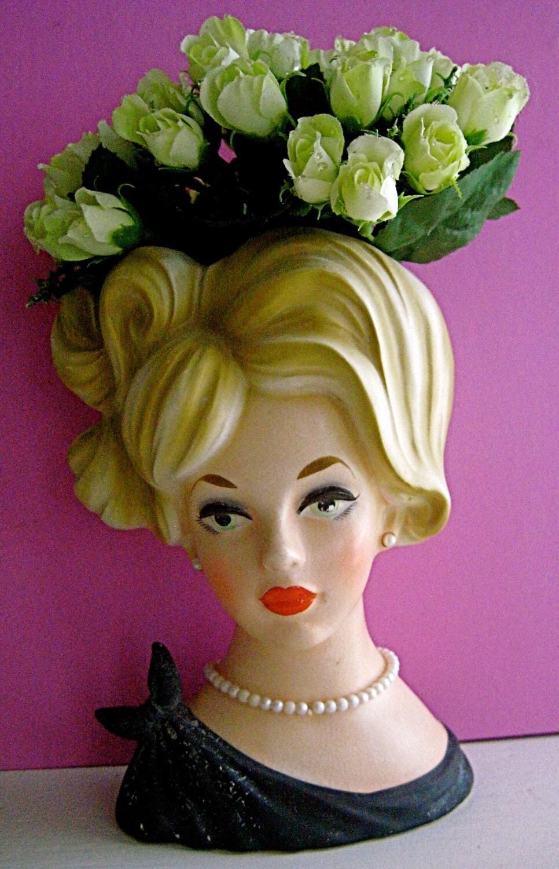 Sale Vintage Lady Napco Head Vase Flower Vase Lady Head