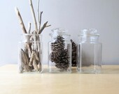 large apothecary jar clear glass canister storage jar