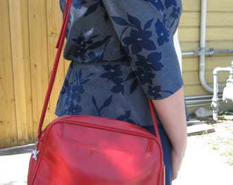 Roomy Cherry Red Shoulder Bag