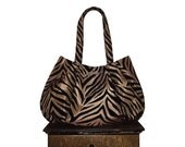 "sale coupon code Purse & bag : Large Hobo - taupe bronze black velvet animal stripe fashionista - ""CROUCHING TIGER TODDY"" handmade"