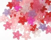Lucite Flower Beads Acrylic Flower Beads Star Flower Beads - 50 Girly Girl Madness