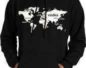 Booze World Hooded Sweatshirt - Drinking Sweatshirt - Bartender Shirt - Funny Drinking Shirt - Alcohol Shirt - Bartender Gift Drinking Shirt