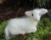 Needle Felted Lamb, Baby Sheep, Nativity