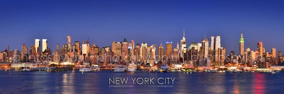 new york city nyc skyline dusk midtown manhattan by cowtownphotog. Black Bedroom Furniture Sets. Home Design Ideas