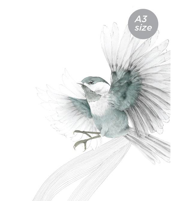 Bird in Flight  A3 SIZE