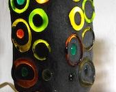 Recycled Glass Lamp - Full Circle mini multi color