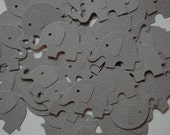 Gray Elephant Confetti -- Set of 50 Elephants -- Punch-Cut Outs-Baby Shower-First Birthday-Table Scatter-Elephant Party -- Ready to Ship