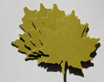 Large Leaf Cut Outs in Avocado Green -- Set of 15 Leaves -- Ready to Ship