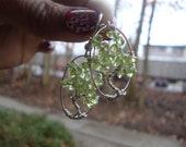 peridot tree of life earrings