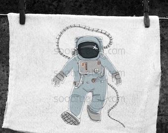 Space Man vintage  -Digital Image Sheet -SooArt Original Illustrate Drawing  A4 Print on Pillows, t-shirts, scrapbook, lampshades  ETC.
