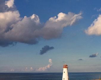 Lighthouse in the Bahamas Photo - 11x14 Color Landscape Nautical Photography Print - Beach House Decor
