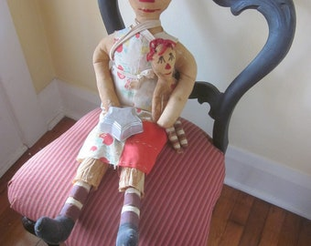 Raggedy Ann and Baby Doll with Witches Socks