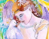 The Angel and the Dove 8 x 10 print, free shipping