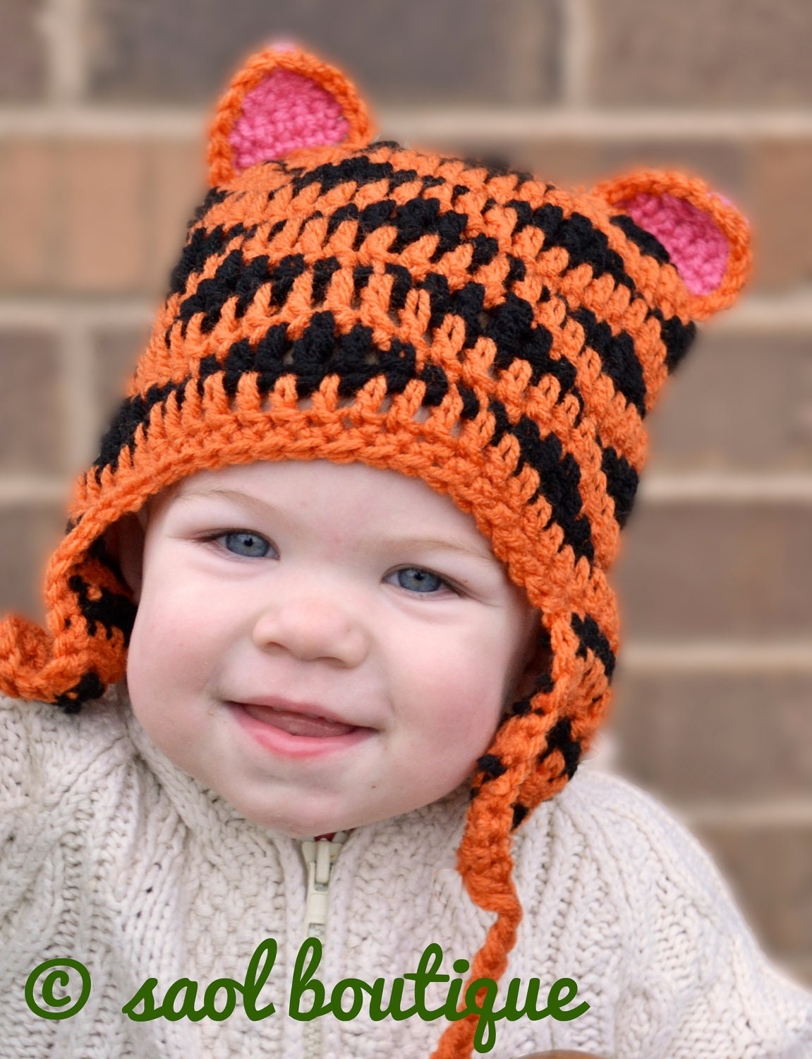 Crochet Pattern for Resale Tiger Hat by SAOL on Etsy
