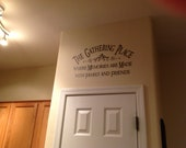 Family  wall decal The Gathering Place vinyl lettering wall word Quotes decals crafts