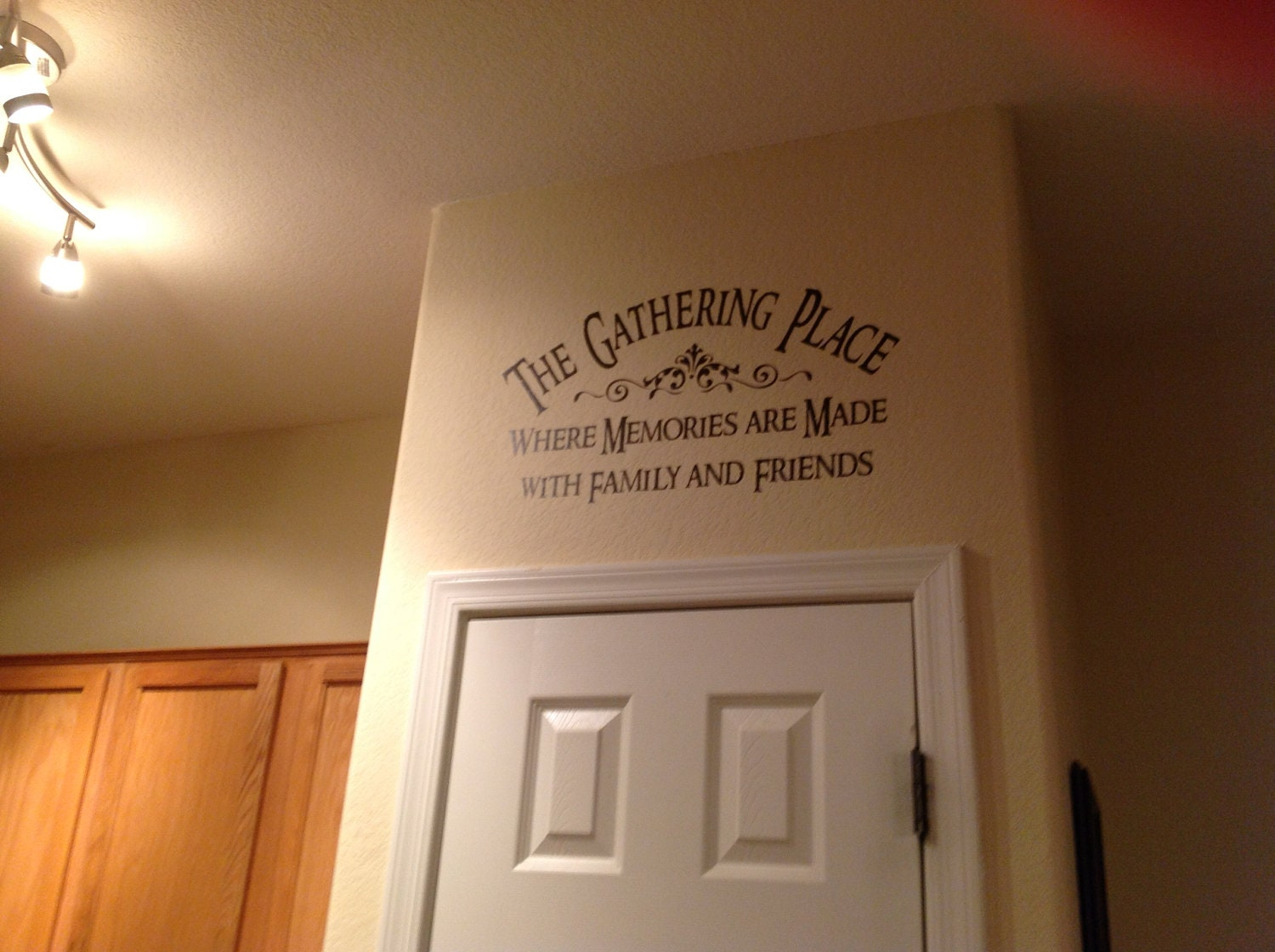Family Wall Decal The Gathering Place Vinyl Lettering Wall - How to make vinyl decals for walls