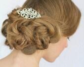 Wedding Hair Comb, Crystal Bridal Hair comb , Vintage Style , Rhinestone Bridal Hair Comb, Wedding Hair Accessories, Vintage Wedding Hair