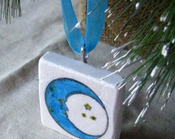 Moon Ornament, including Gift Box, Ready to Ship