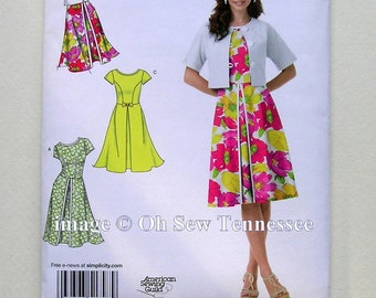 Cool Summer Dress and Jacket - Simplicity 1797 - Out of Print Sewing Pattern, Sizes 6, 8, 10, 12 and 14