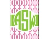 PREMIUM Personalized iPhone 5 or 4/4s Case  - Links Pink iPhone case, iPhone 5 case, iPhone 5 cover, monogrammed iPhone 5 cover
